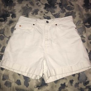 GAP high waisted denim shorts